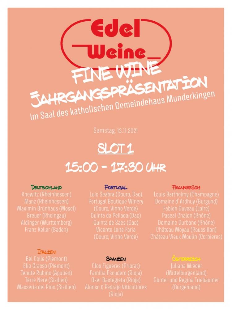Ticket Munderkingen FINE WINE Präsentation, Slot I